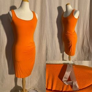 Bailey 44 orange twist tank dress XS